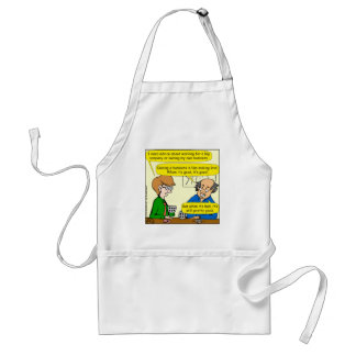 879 Own your own business cartoon Adult Apron