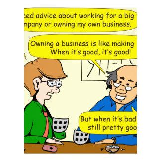 879 Own your own business cartoon Letterhead
