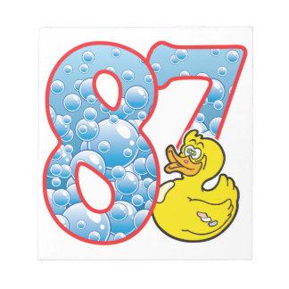 87 Age Duck Memo Pad