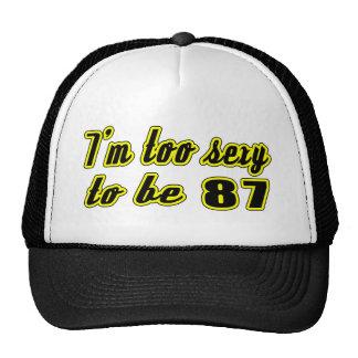 87 diseños del cumpleaños gorras de camionero