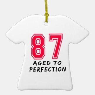 87 envejeció al diseño del cumpleaños de la perfec adornos