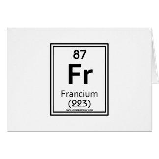 87 Francium Greeting Card