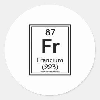 87 Francium Classic Round Sticker