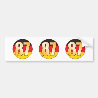87 GERMANY Gold Bumper Sticker