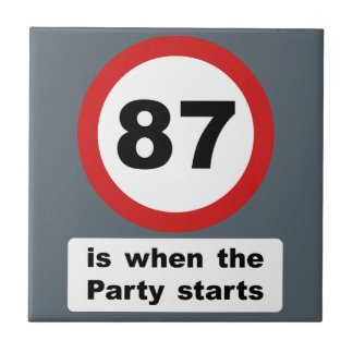 87 is when the Party Starts Tile