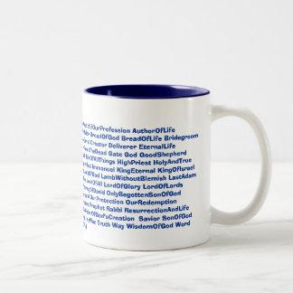 87 names of JESUS mug