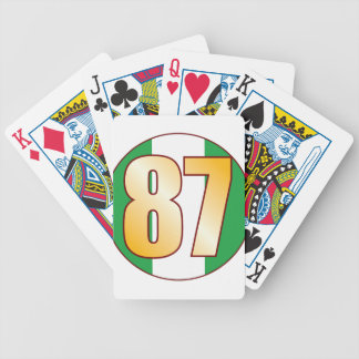 87 NIGERIA Gold Bicycle Playing Cards