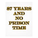 87 ninguna hora de prisión plantilla de membrete