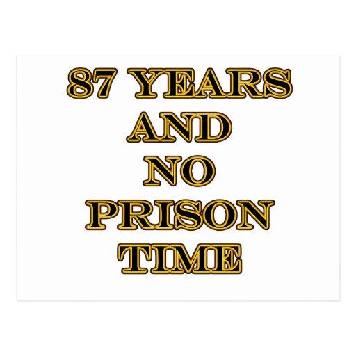 87 ninguna hora de prisión postales