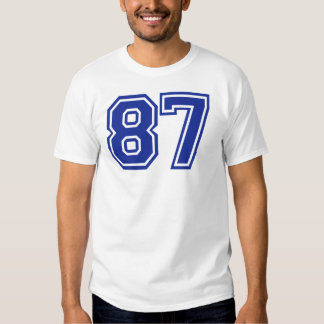 87 - number t shirt