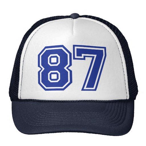 87 - número gorros
