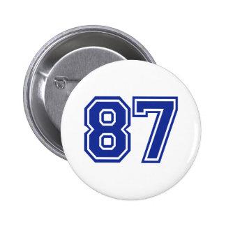 87 - número pin redondo de 2 pulgadas