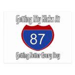 87.o cumpleaños de la ruta 66 tarjeta postal