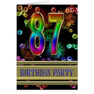 87.o Invitación de la fiesta de cumpleaños Felicitaciones