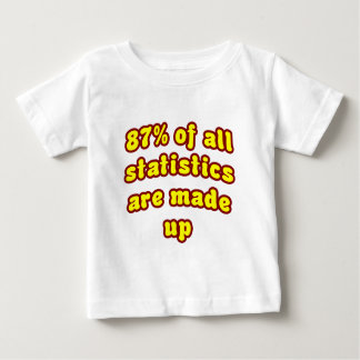 87% Of All Statistics Are Made Up Baby T-Shirt