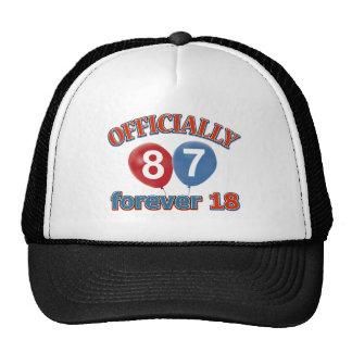 87.os diseños del cumpleaños gorros