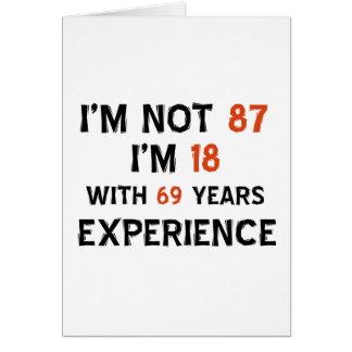 87.os diseños del cumpleaños tarjeta de felicitación