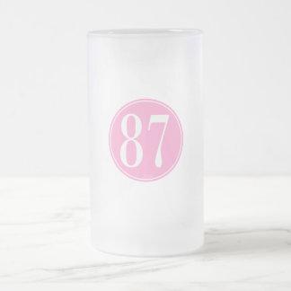 #87 Pink Circle Mugs