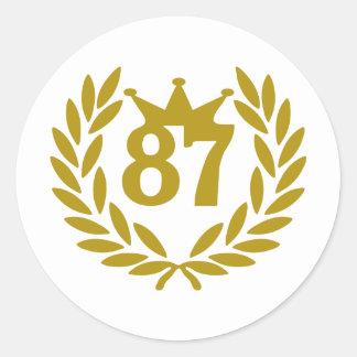 87-real-laurel-crown classic round sticker