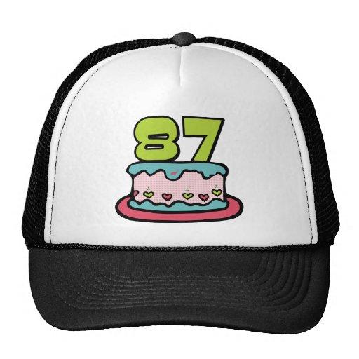 87 Year Old Birthday Cake Trucker Hat