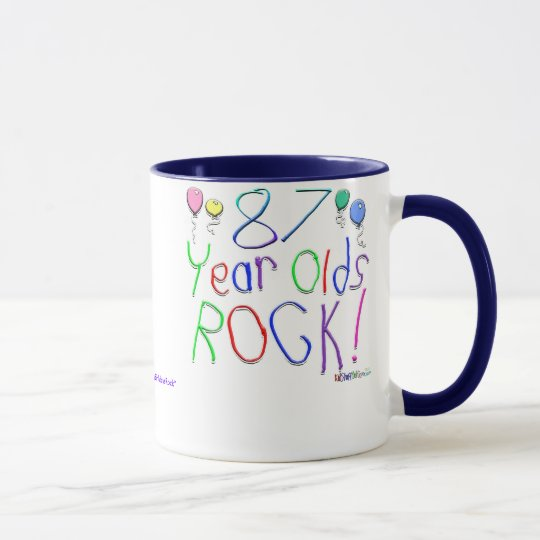 87 Year Olds Rock ! Mug