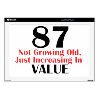 """87 years old birthday designs decal for 17"""" laptop"""