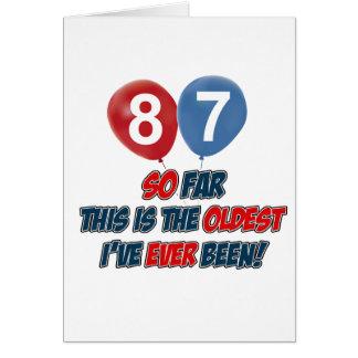 87th birtday designs card
