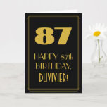"[ Thumbnail: 87th Birthday – Art Deco Inspired Look ""87"" & Name Card ]"