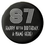 "[ Thumbnail: 87th Birthday - Art Deco Inspired Look ""87"", Name ]"