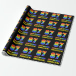 [ Thumbnail: 87th Birthday: Bold, Fun, Simple, Rainbow 87 Wrapping Paper ]