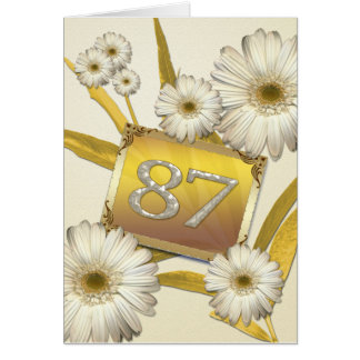 87th Birthday card with daisies.