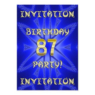 87th Birthday party invitation