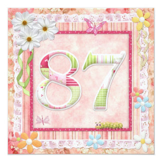 87th birthday party scrapbooking style personalized announcement