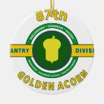 "87TH INFANTRY DIVISION ""GOLDEN ACORN"" ORNAMENTS"