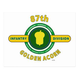 "87TH INFANTRY DIVISION ""GOLDEN ACORN"" POSTCARD"