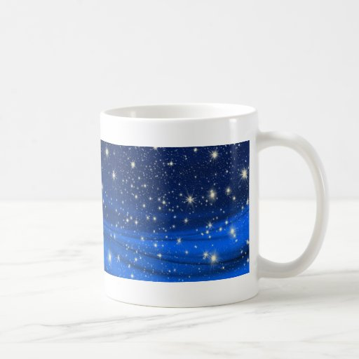 880294 ROYAL BLUE STARS SPACE UNIVERSE BACKGROUNDS CLASSIC WHITE COFFEE MUG