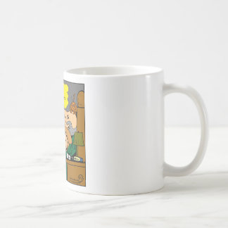 881 Pee o'clock in the morning cartoon Coffee Mug