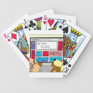 883 Search engine diagnosis cartoon Bicycle Playing Cards