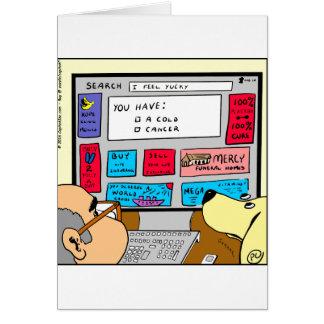 883 Search engine diagnosis cartoon Card