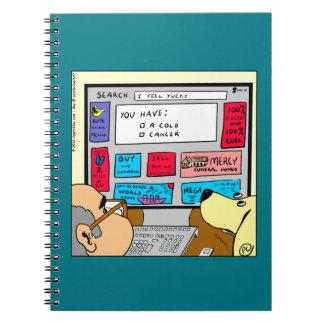 883 Search engine diagnosis cartoon Notebook