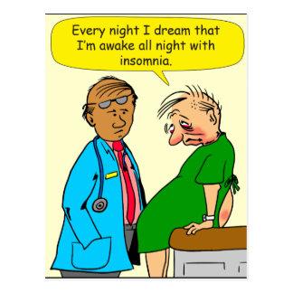 884 Dream I have insomnia cartoon Postcard