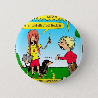 887 nerd wins argument cartoon pinback button