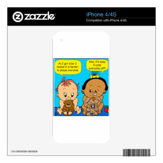 888 As I get older baby cartoon Skins For iPhone 4