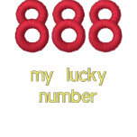 888, my lucky number embroidered polo shirt