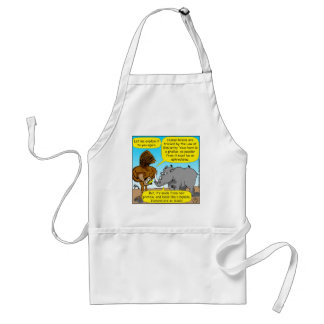 889 Rhino phallus cartoon Adult Apron