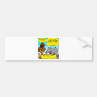 889 Rhino phallus cartoon Bumper Sticker