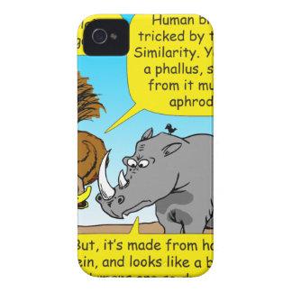 889 Rhino phallus cartoon iPhone 4 Case