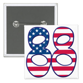 88 Age USA 2 Inch Square Button