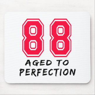 88 Aged To Perfection Birthday Design Mouse Pad