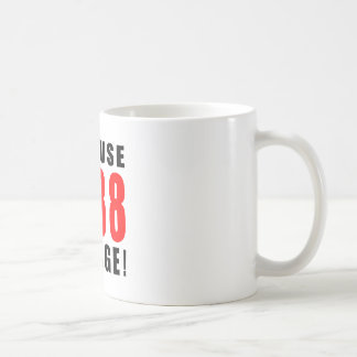 88 birthday design classic white coffee mug
